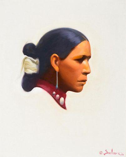 GERARD CURTIS DELANO (1890-1972), Navajo Portrait; The Inscrutable Navajo
