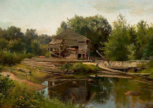 ALBERT BIERSTADT (1830-1902), Old Mill