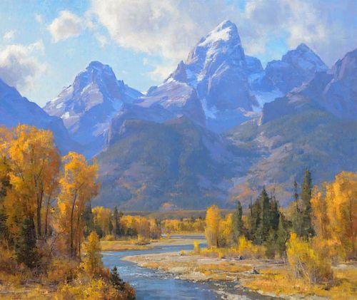 CLYDE ASPEVIG (b. 1951), The Tetons, Wyoming (2009)
