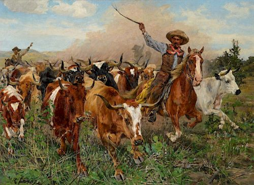 RICHARD LORENZ (1858-1915), The Herders