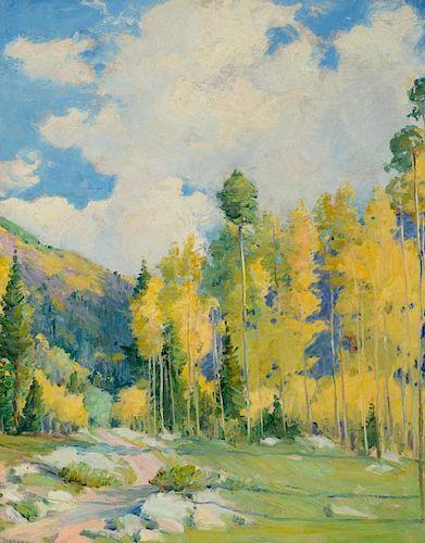 JOSEPH H. SHARP (1859-1953), The Old Road to Taos (circa 1935)