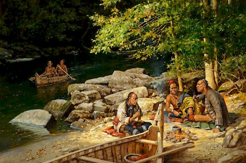 ROBERT GRIFFING (b. 1940), River Camp (2016)