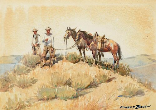 EDWARD BOREIN (1872-1945), Break on the Trail