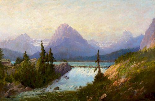 JOHN FERY (1859-1934), Lake McDermott, Glacier National Park