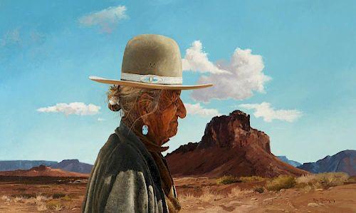 RAY SWANSON (1937-2004), Old Yellow Indian; Navajo Woman