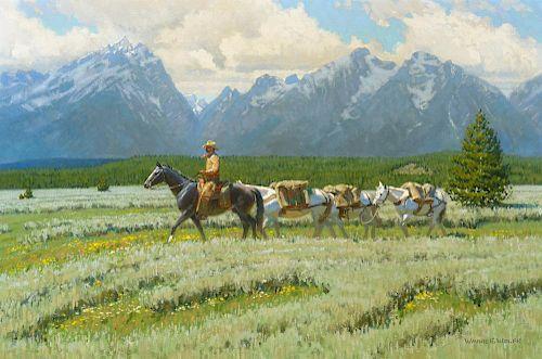 WAYNE E. WOLFE (b. 1945), Headin' to the High Country