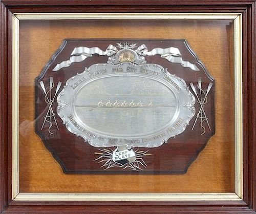 W.M. LEMP BREWING CO. SILVER AWARD PLATE 1900