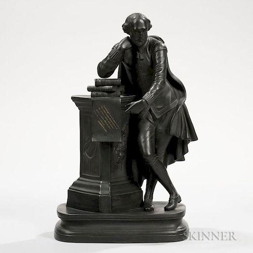 Wedgwood Black Basalt Figure of William Shakespeare