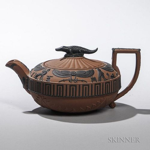 Wedgwood Rosso Antico Egyptian Ware Teapot and Cover