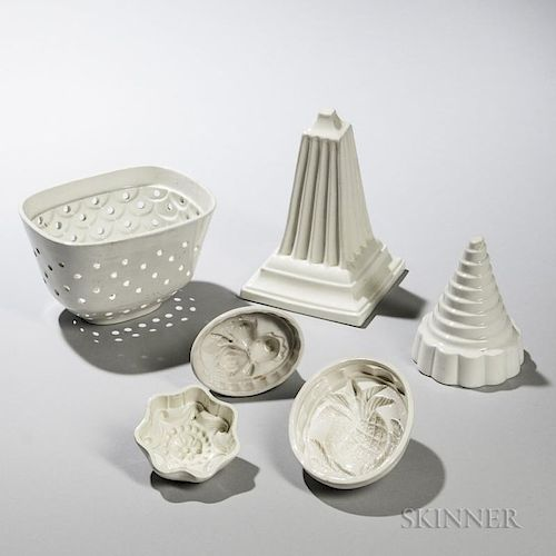 Six Creamware Molds
