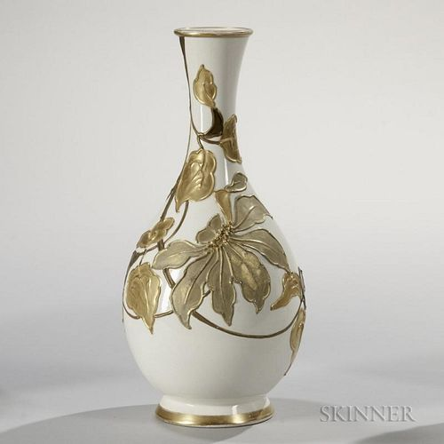 Wedgwood Slip-decorated Ivory Vellum Vase