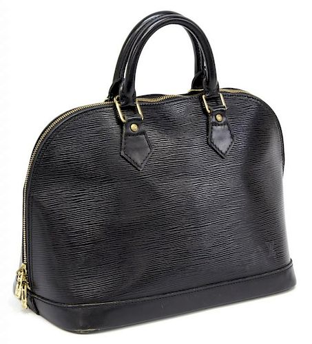2d61e2ce3940 LOUIS VUITTON BLACK EPI LEATHER ALMA PM BAG. Lot 365. Prev Lot · Next Lot ·  item Image