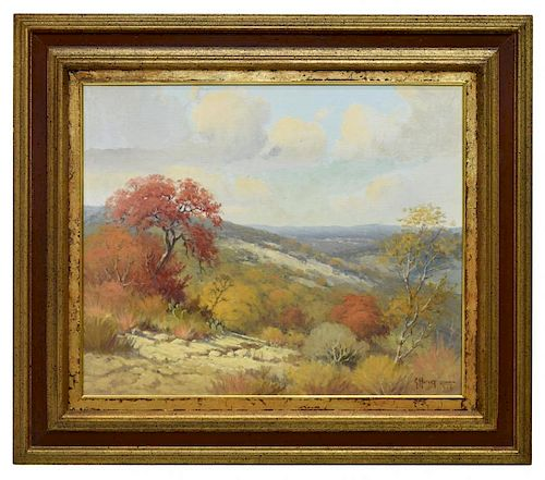 "G. HARVEY (TEXAS, B. 1933), TEXAS AUTUMN, 20"" x 24"
