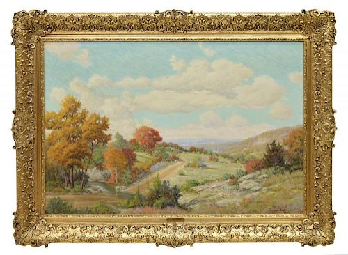 WALTON LEADER (1877-1966) TEXAS HILL COUNTRY 24X36