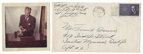Large Archive of Faucett Ross-Frank Csuri Correspondence.