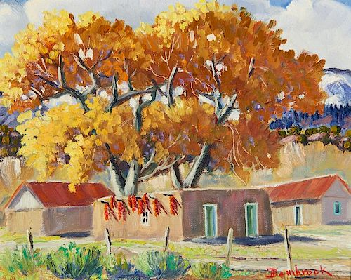 Walter Bambrook | Autumn Cottonwoods, Northern New Mexico