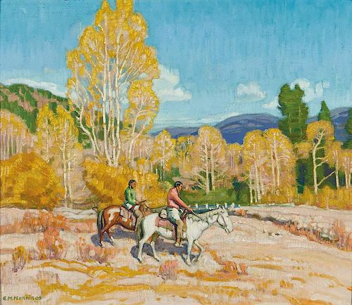 Ernest Martin Hennings | Indian Hunters
