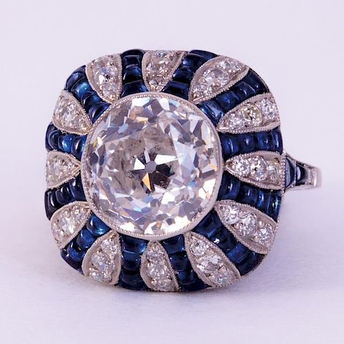 Unknown | Diamond & Sapphire Ring