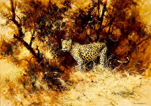 David Shepherd | Leopard and His Kill