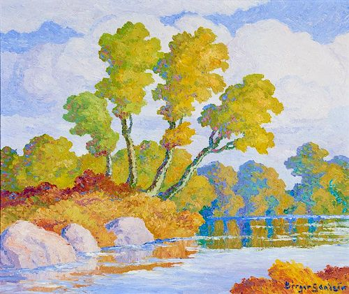 Birger Sandzen | Autumn (Smoky Hill River, Kansas)