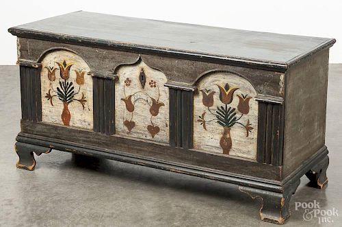 Lancaster, Pennsylvania painted pine dower chest, dated 1782, 22 1/2'' h., 45'' w.