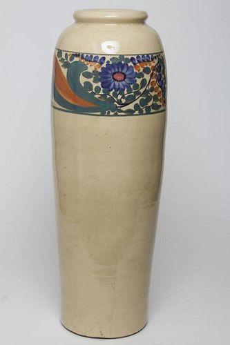 Italian Majolica Pottery- Large Floor Vase