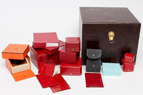 Cartier, Hermes, Tiffany, & Hoya- Group of Boxes