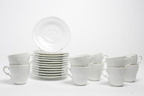 Richard Ginori Porcelain Cups & Saucers, Set of 10