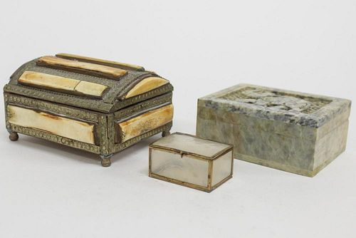 Vintage Ethnographic Boxes, inc. Moroccan & Indian