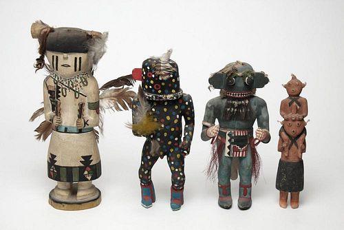 Native American Carved Hopi & Zuni Kachina Dolls