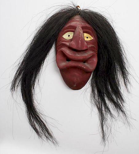 Vintage Native American Iroquois False Face Mask