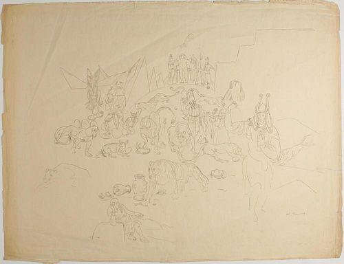 Kristians Tonny (Dutch, 1907-1977)- Ink on Paper