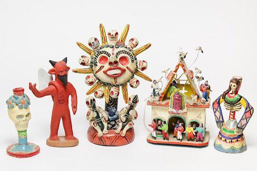 Mexican Dia de los Muertos Day of the Dead Pottery
