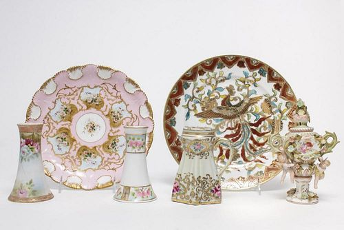 German & Nippon Hand-Painted Porcelain, Group
