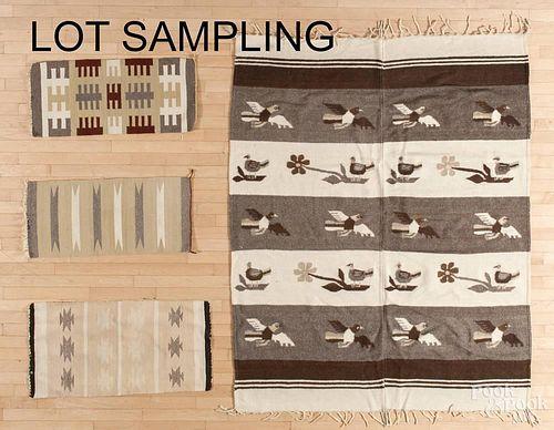 Eight Native American Indian weavings, 20th c.