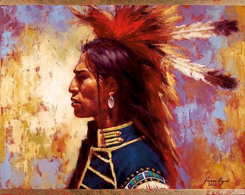 James Ayers | Indian in Headdress