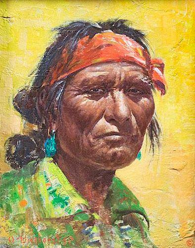 Navajo Portrait by Olaf Wieghorst