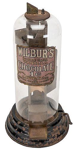 National Vending Machine Co. Wilbur's 1 Cent Chocolate Vendor.