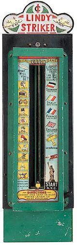 B. Madorsky Co. 1 Cent Lindy Striker Arcade Machine.