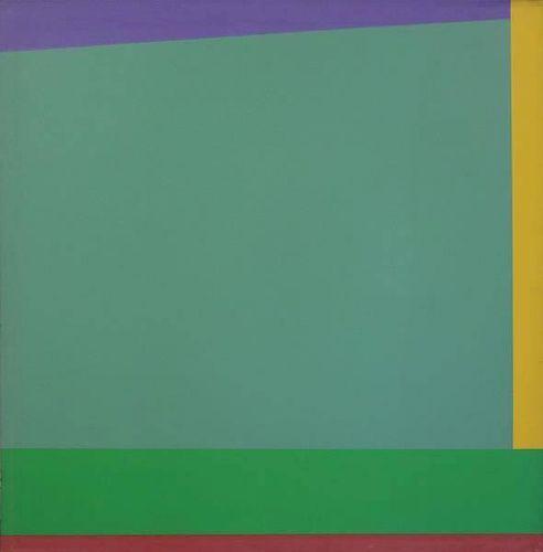 JOHNSON, Daniel La Rue. Abstract Oil on Canvas.
