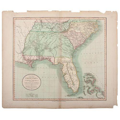 Cary Map of Florida, Georgia, North Carolina, South Carolina and ...
