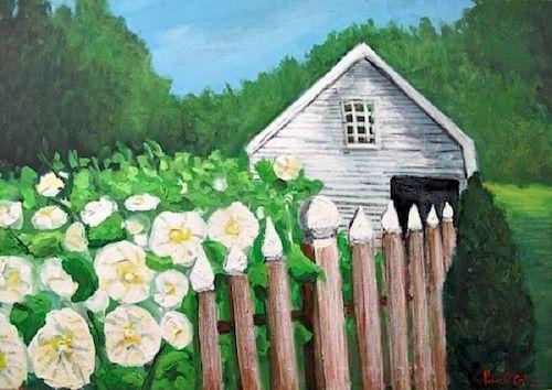 Paul Crimi, Passion Flowers Near the Barn