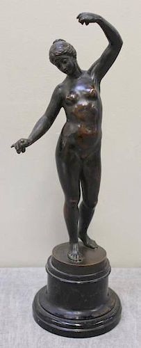 RASMUSSEN, Otto. Antique Bronze Figure of a Nude.