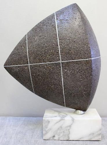 TRAKIS. Signed Midcentury Abstract Sculpture.