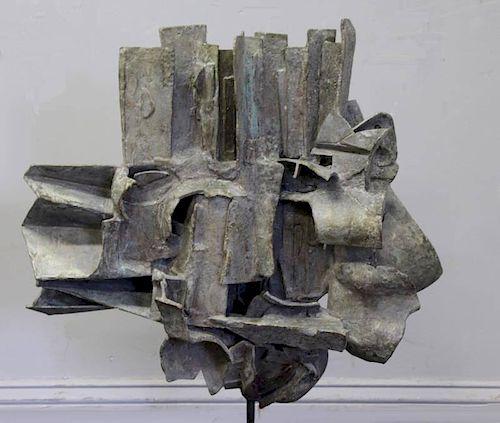 CHINNI, Peter. 1961 Abstract Bronze Sculpture