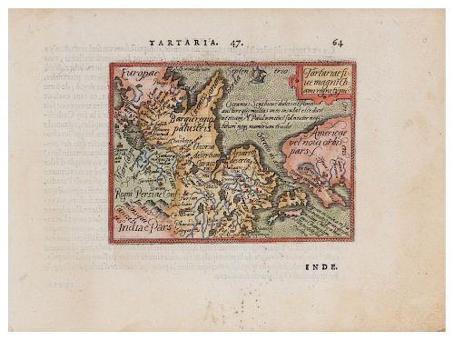 ORTELIUS, Abraham (1527-1598) Tartariae sive magni Chami regnitypus. Antwerp, 1579.