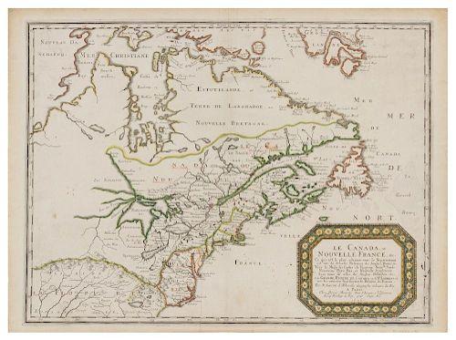 SANSON D'ABBEVILLE, Nicolas (1600-1667).  Le Canada, ou Nouvelle France. Paris: Pierre Mariette, 1656.