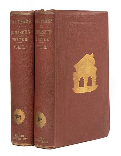 PORTER, J[osias] L[eslie] (1823-1889) Five Years in Damascus... London, 1855. FIRST EDITION.