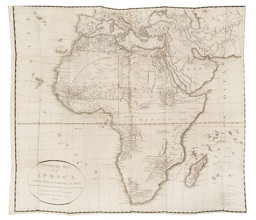 BLAGDON, Francis (1778-1819) Travels in Africa Performed in the Years 1785, 1786, and 1787... London, 1802. 2 volumes.