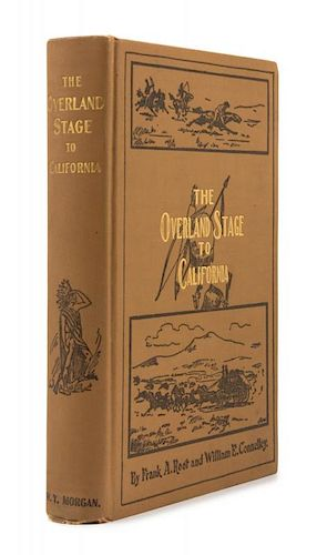 ROOT, Frank. The Overland Stage to California. Topeka, 1901. FIRST EDITION, SIGNED BY THE AUTHOR.